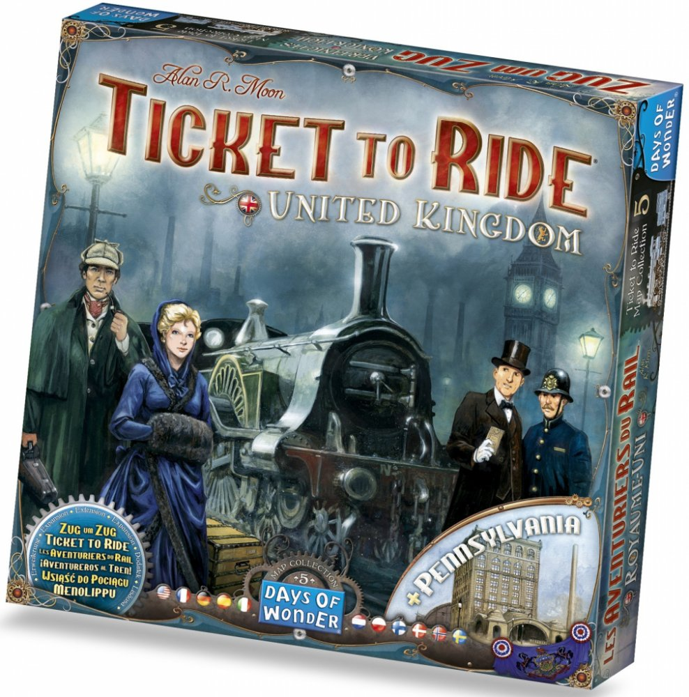 Days of Wonder Ticket to Ride: United Kingdom and Pennsylvania